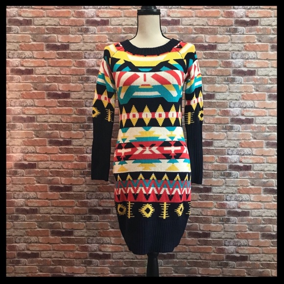4f38cd2cbc Jessica Simpson Dresses   Skirts - Jessica Simpson Aztec Print Sweater Dress